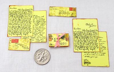 VINTAGE LOVE LETTERS Dollhouse 1:12 Scale Miniature Vintage Victorian Post Mail