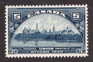Sc# 202 - Canada - 1933 - 5 cent - Architecture UPU  - MNH -  superfleas - cv$32