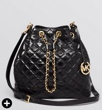 bab0974c11d2 item 3 NWT MICHAEL KORS Frankie Quilted Large Drawstring Convertible Bag  Black Gold -NWT MICHAEL KORS Frankie Quilted Large Drawstring Convertible  Bag Black ...