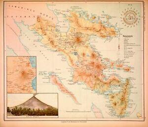 PHILIPPINE-ISLANDS-LUZON-ALBAY-SORSOGON-1899-Original-Antique-Map