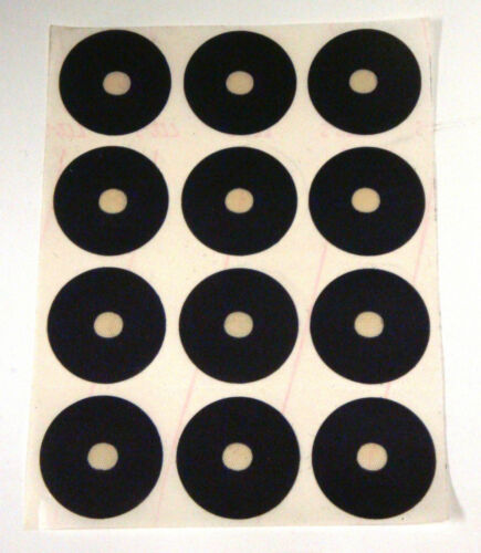 24 Pool Billiard Stick on BLACK Ball Marker Spots Self Adhesive FREE Small Dots