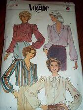 Vintage Vogue 7819 pattern Misses Blouse and Tie ~ Size 18