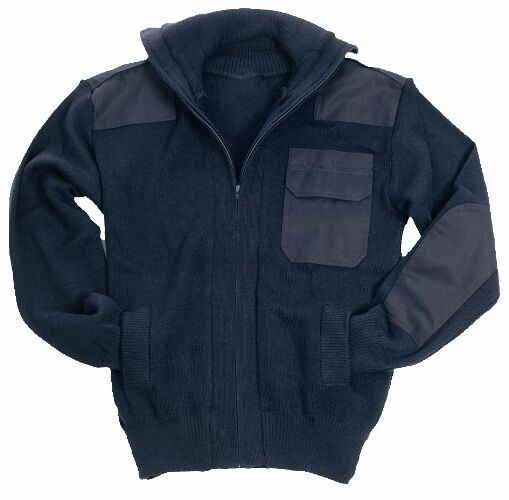Marina Militare Esercito Blu Stile Stile Stile Full Zip Cardigan - Lana Fleece Saltatore 937c17