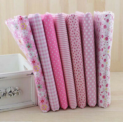 1 PCS Pink Pre-Cut Plain Cotton Quilt cloth Fabric for Sewing 7 Style H92