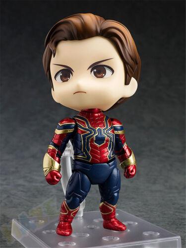 "Infinity War Iron Spider Q Ver Avengers 4/""//10cm PVC Action Figure Model Toy"