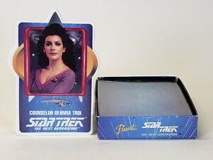 1992 Hamilton Star Trek Next Generation Porcelain Trading Card Lt. Deanna Troi