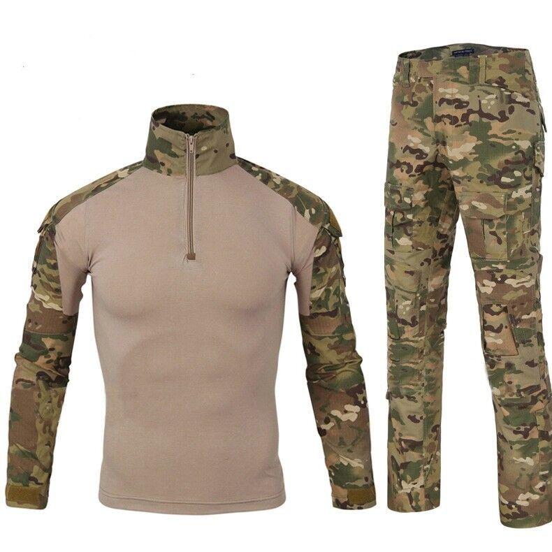 Men's Airsoft Gen3 G3 Combat Suit Shirt Pants Military Tactical BDU Uniform MC