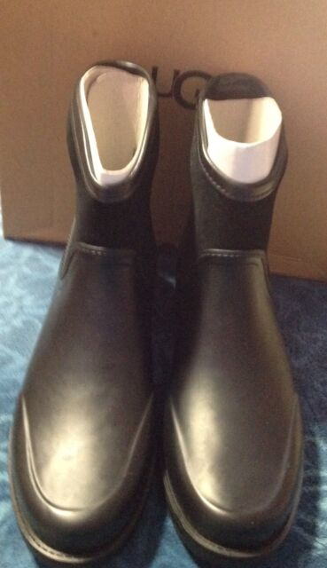 a38f5a6c544 UGG Australia Womens Black Paxton Rubber and Waterproof Suede BOOTS Size 10