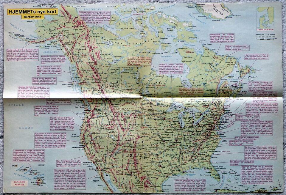 Landkort Kort Over Nordamerika Dba Dk Kob Og Salg Af Nyt Og Brugt