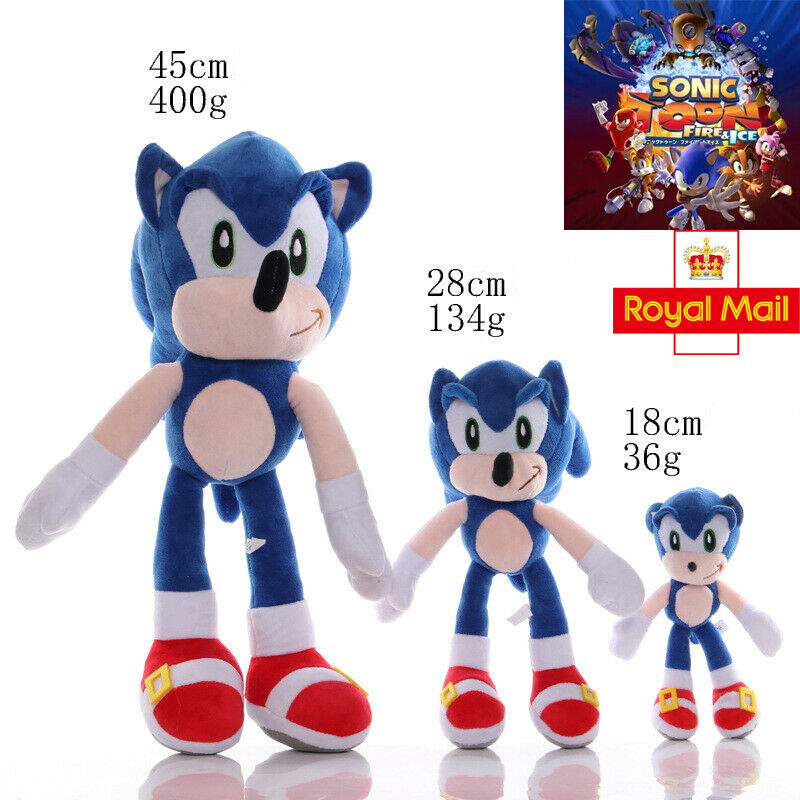 Sonic the Hedgehog 12/'/' Plush Doll Sonic Video Game Blue Soft Toy Birthday Gift