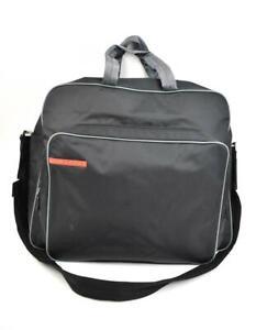 c8a4757b479f Image is loading PRADA-Black-Vela-Nylon-amp-Logo-Large-Travel-