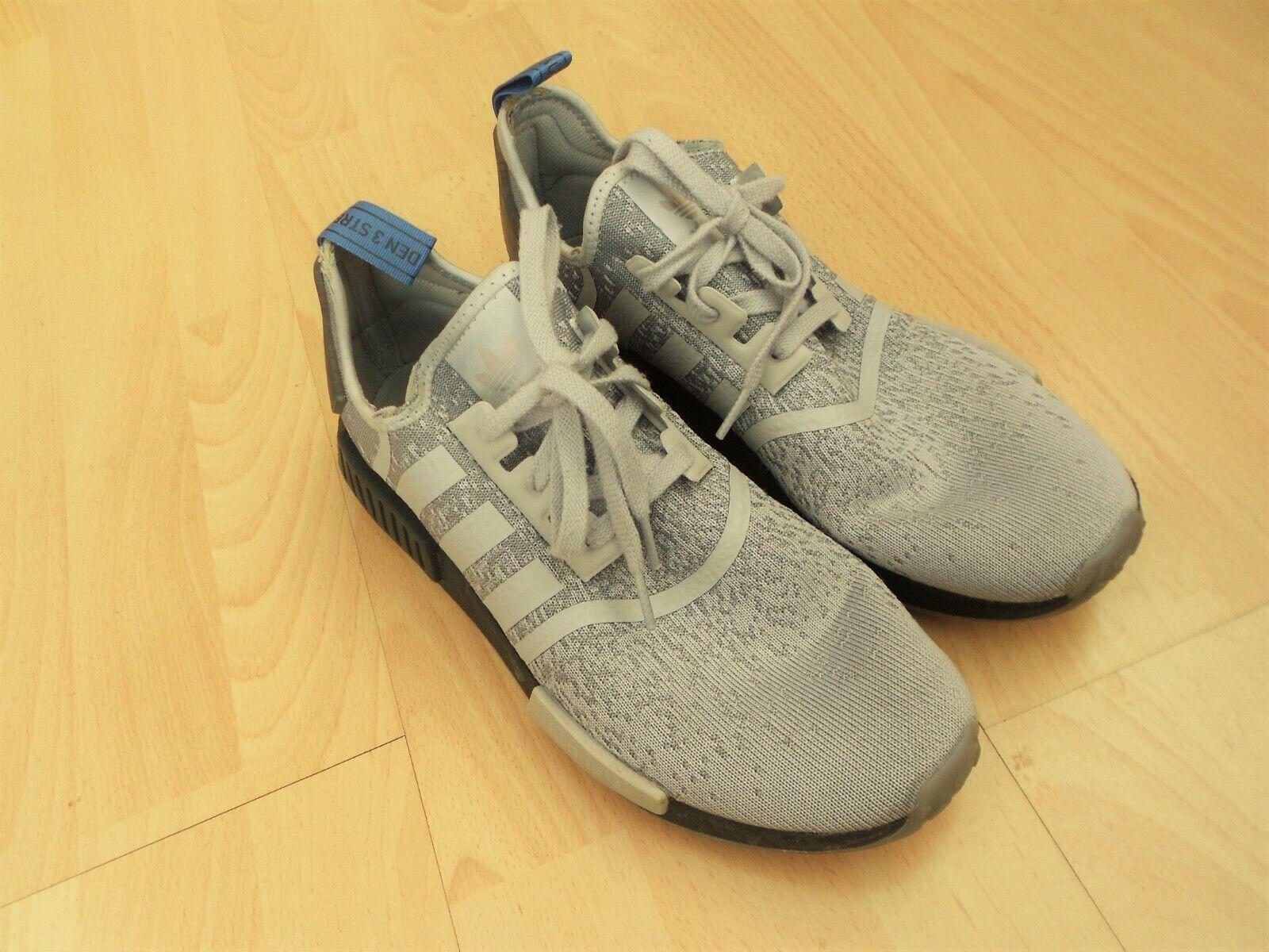 Adidas NMD R1 entrenadores Talla 11, gris y negro, en buen estado-see DESC
