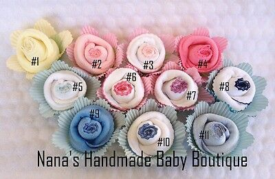 Super Cute Baby Shower Gift or Decorations! Baby Bib Roses!