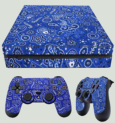 Video Games & Consoles Pad Pegatinas Vinilo Video Game Accessories Realistic Ps4 Fino Piel Azul Estampado Cachemira Bandana Do Trapo