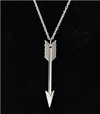 Fashion Vintage Celebrity Charm Silver Retro Arrow Alloy Chain Pendant Necklace