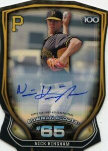 2015-Bowman-Chrome-Scouts-Superfractor-1-1-Autograph-Nick-Kingham-Auto-Rookie-RC