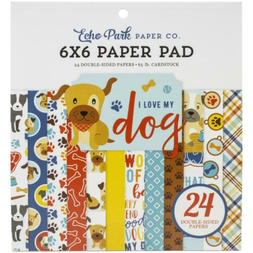 Echo Park ~ I LOVE MY DOG ~ 6x6 Paper Pad 24 pcs