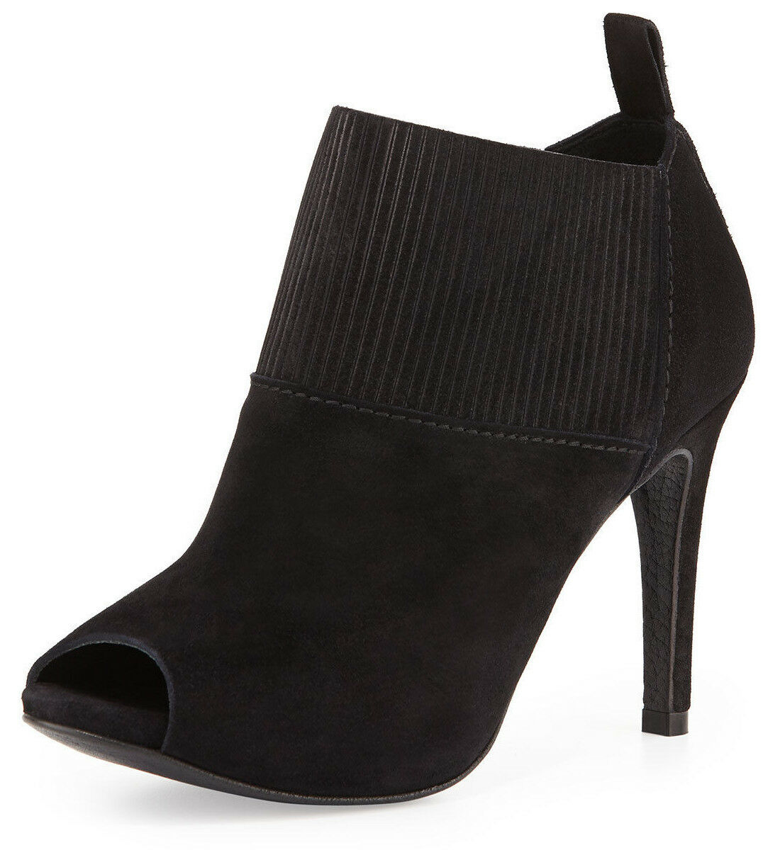 Pedro Garcia Women's Black Sondra Suede Peep-Toe Booties Size 39.5