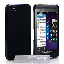 Blackberry Z10 New Black Silicone Gel Case Covers - Plus Free Screen Protector