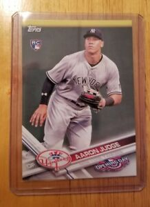 Details About Aaron Judge 2017 Topps Opening Day Rookie Baseball Card 147