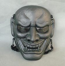 Black Airsoft Paintball CS ABS Full Face Protection Evil Oni Noh Hannya Mask