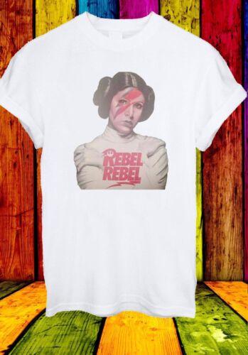 Princess Leia Rebel David Bowie Star Wars Force Men Women Unisex T-shirt 36