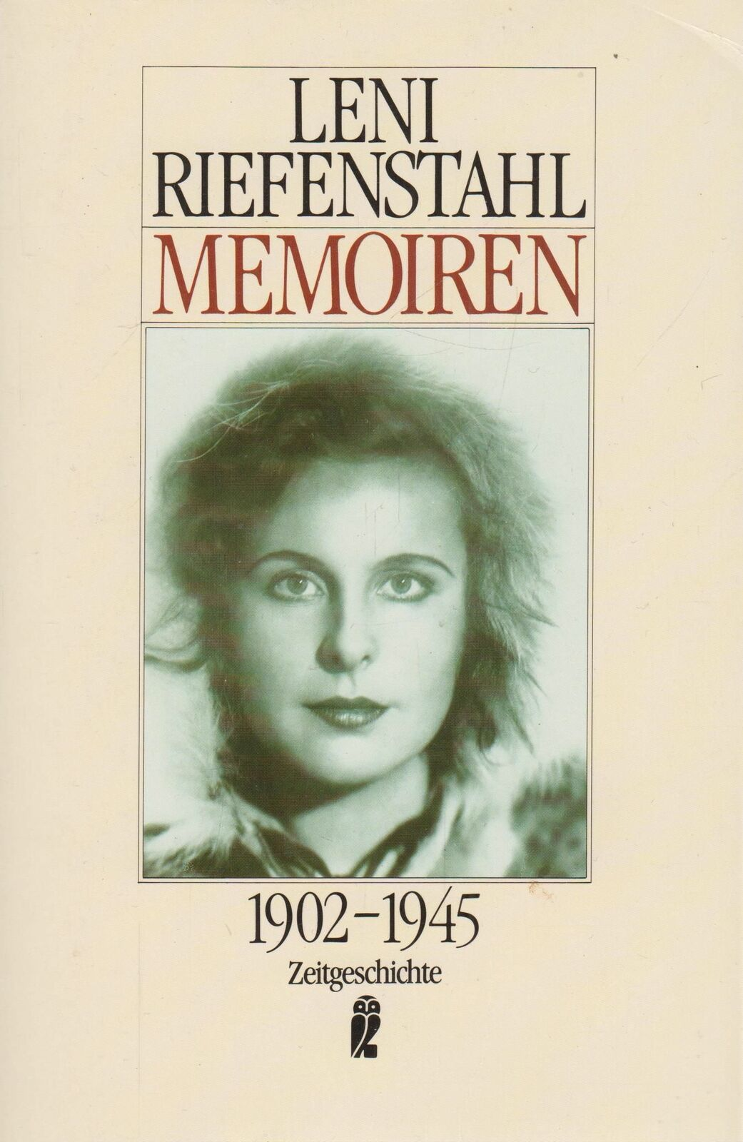 Buch: Memoiren 1902-1945. Riefenstahl, Leni, 1996, Ullstein Verlag - Riefenstahl, Leni