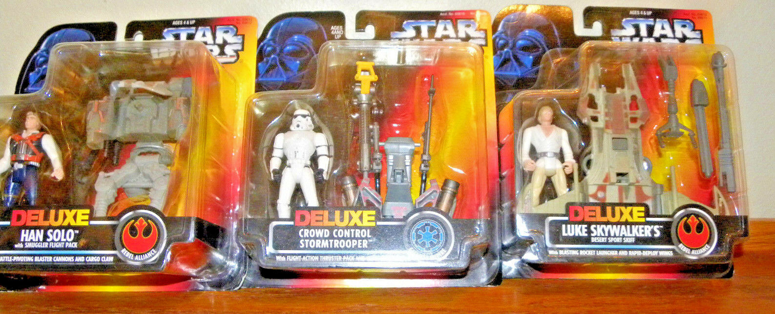Star Wars Power Power Power of the Force DELUXE FIGURE SET OF 3 MIB 5c602f