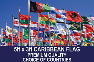 CARIBBEAN-COUNTRY-FLAG-5FTx3FT-PREMIUM-QUALITY-POLYESTER-FLAGS-CHOOSE-YOUR-DESGN