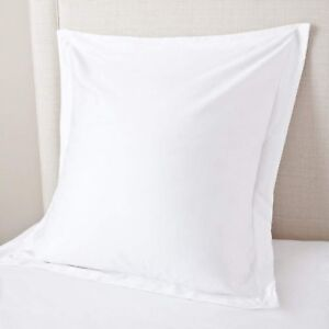 European-Pillow-Shams-Set-of-2PCs-White-Euro-Pillow-Shams-SOLID-500TC-100-COTTON