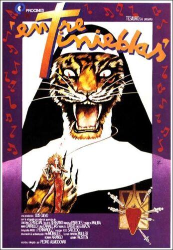 Entre Tinieblas Poster Das Kloster zum heiligen Wahnsinn Filmplakat NEU 1983