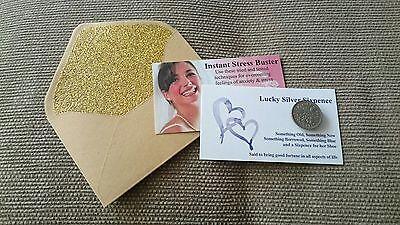 Aggressivo Lucky Sixpence Con Spose Lo Stress Buster Consigli Da Wedding Planner Professionale-mostra Il Titolo Originale Lucentezza Luminosa
