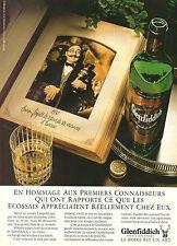 Publicité Advertising 1985  WHISKY GLENFIDDICH