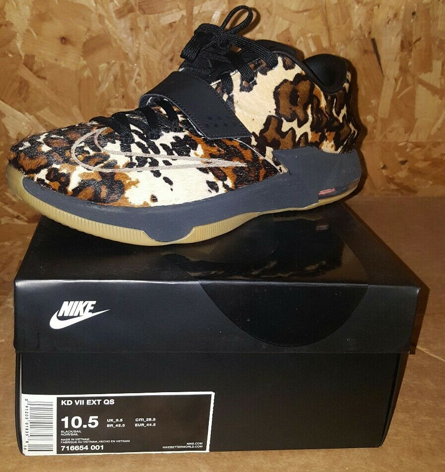Nike KD 7 VII EXT Longhorn State Pony Hair 716654-001 QS BASKETBALL SHOES Floral