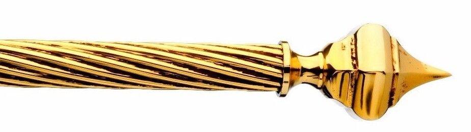 BASTONE PER TENDA IN OTTONE PURO ANTICATO Gold FRANCESE 100% MADE IN ITALY