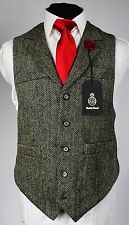 Harris Tweed Waistcoat Lapel Hand Tailored Wedding 38 Chest EXCLUSIVE ITEM