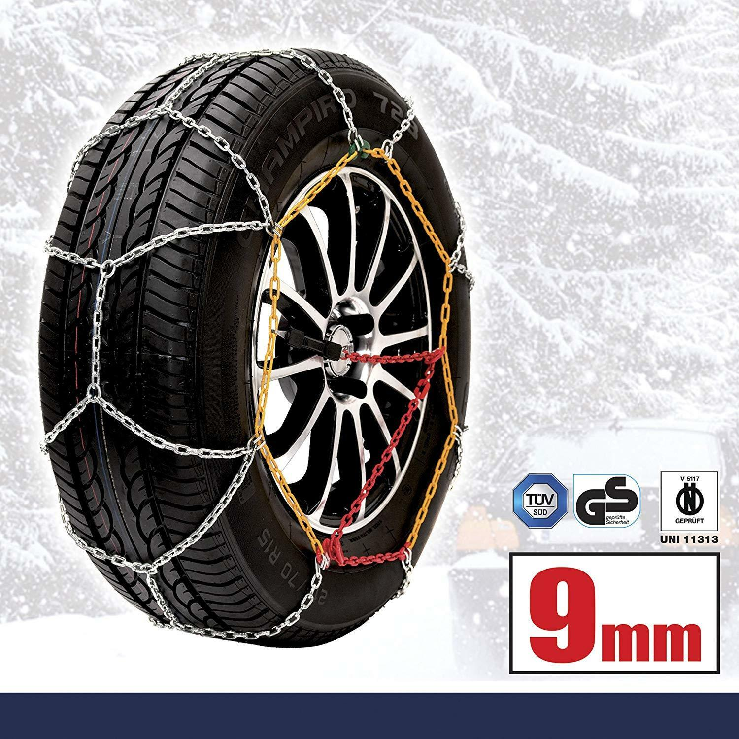 195//65 R15 Husky Sumex Winter Classic Alloy Steel Snow Chains for 15 Car Wheel Tyres