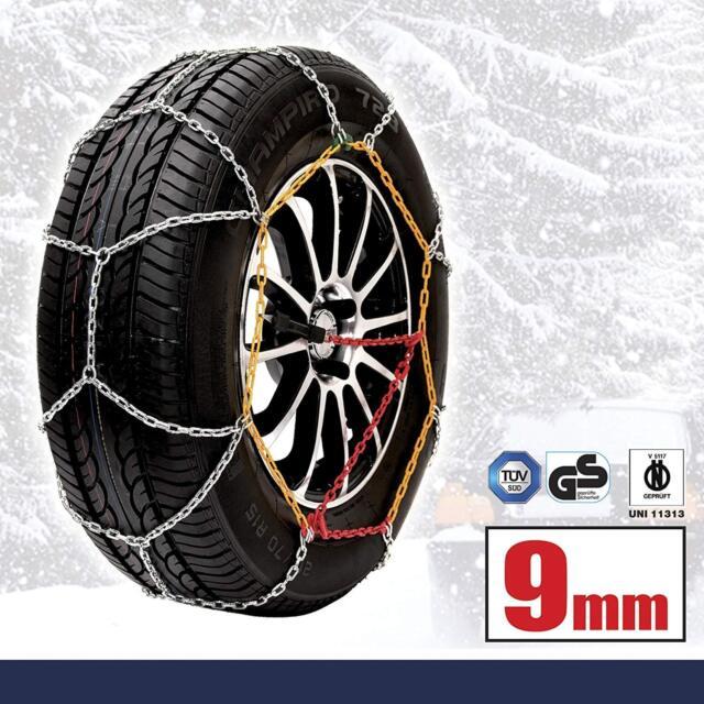 "9mm Car Tyre Snow Chains for 16/"" Wheels TXR9 215//65-16"