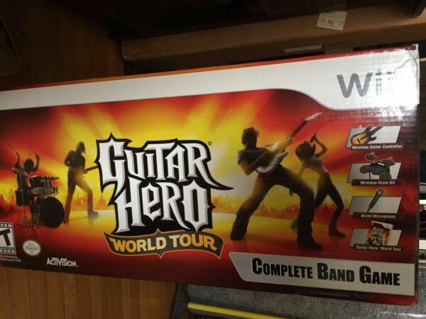 guitar hero world tour nintendo wii complete band game set bundle for sale online ebay. Black Bedroom Furniture Sets. Home Design Ideas