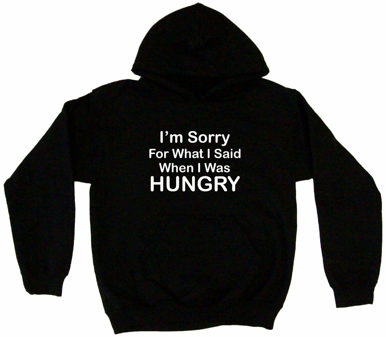 I'm Sorry For What I Said When I Was Hungry Hoodie Sweatshirt