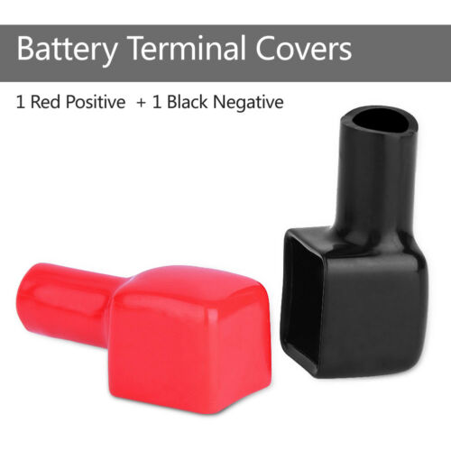 2x PVC Battery Terminal Covers Positive and Negative Red /& Black 192681 192682