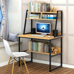 Impresora-De-Torre-De-Escritorio-Computadora-Mesa-para-Portatil-amp-Estantes-Estudio-Oficina-En-El