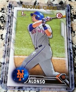 PETER-PETE-ALONSO-2016-Bowman-1st-Rookie-Card-RC-New-York-Mets-40-HRs-HOT