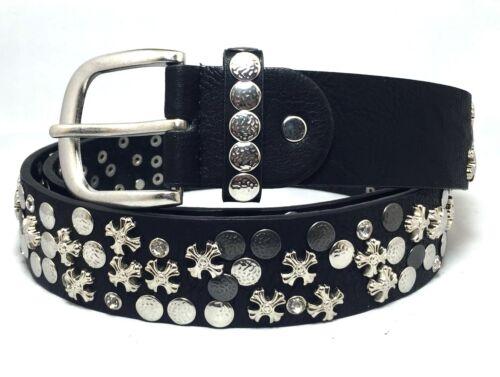 Damen Vintage Gürtel Nietengürtel kürzbar NEU Schwarz 80 85 90 95 100 105 110cm