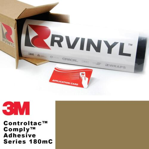3M 180mC Controltac Satin Gold 131 Vinyl Film Wrap Sign Craft Decal Sheet Roll