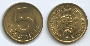 G9861 - Peru 5 Soles de Oro 1978 KM#271 UNC - Großgmain, Österreich - Widerrufsbelehrung: Widerrufsrecht Sie haben das Recht, binnen eines Monats ohne Angabe von Gründen diesen Vertrag zu widerrufen. Die Widerrufsfrist beträgt vierzehn Tage ab dem Tag, an dem Sie oder ein von Ihnen benannter Drit - Großgmain, Österreich