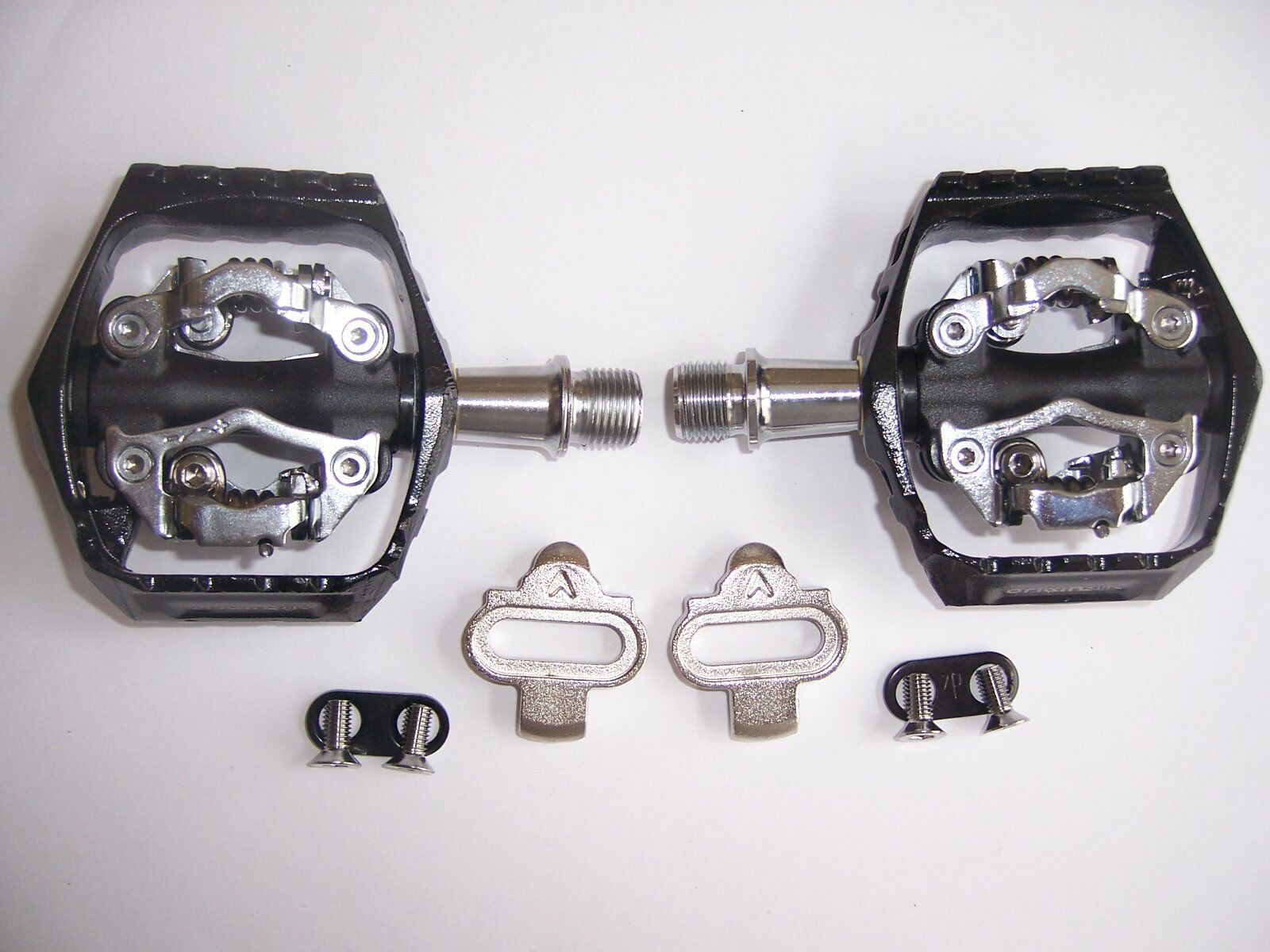 PEDALS with CLEATS ORIGIN8 ULTIM8 MTB  DOUBLE CLIPLESS  9 16 BK GY