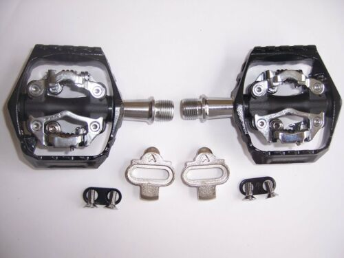 PEDALS with CLEATS ORIGIN8 ULTIM8 MTB  DOUBLE CLIPLESS  9//16 BK//GY