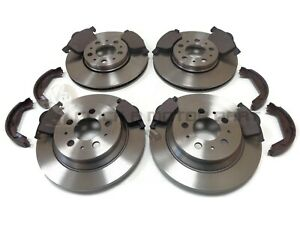 VOLVO S60 & S80 FRONT & REAR BRAKE DISCS & PADS & HANDBRAKE SHOES (CHECK SIZE)