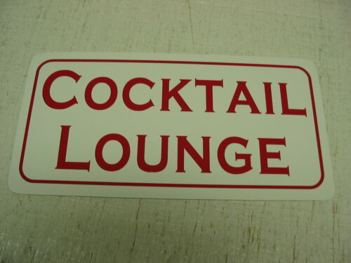 COCKTAIL LOUNGE Sign Metal vintage style Beer Wine Liquor Store Bar or man cave